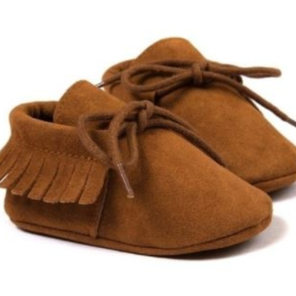 7e3f5862b111f Dark brown baby moccasins 6-12 mo Size 2 Boutique